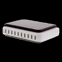 Charging station DELTACO 10xUSB, 5V 21A, 105W, black / Y-2155 / USB-AC101