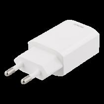 Phone charger DELTACO 100-240V, 2.4A, 1xUSB, white / USB-AC150