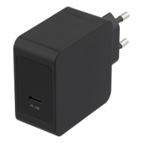 Wall charger, 18W USB-C, PD 2.0, 3A DELTACO black / USBC-AC130