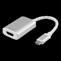 Adapter DELTACO 0.2m, silver/white / USBC-HDMI4