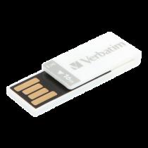 USB 2.0 memory Verbatim Clip-it 16 GB, white / V43952