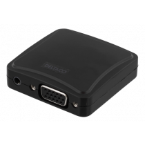 Converter DELTACO VGA to HDMI, 3.5mm audio input, 1080p in 60Hz, USB micro B, black / VGA-HDMI7