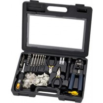 Tool Kit, Deltaco Sprotek STK-985, black / VK-257