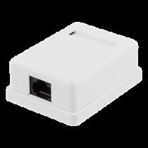 Unshielded network socket, Surface UTP 1xRJ45, Cat6 DELTACO / VR-217