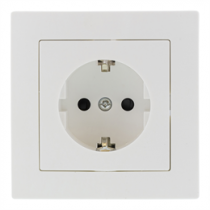 1-way socket EPZI grounded, white / VR-6003