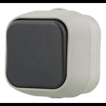 Switch  EPZI 1 button, IP54, grey / VR-6010