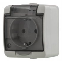 1-way socket EPZI, IP54, gray / VR-6012