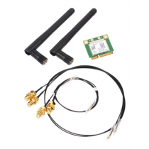Shuttle WLN-P WLAN kit, 802.11b / g / n / ac, Mini-PCIe Half-Size, incl. cables and antennas, 2.4 / 5GHz, 580Mbps, Bluetooth 4.0  POZ-WLNP01 / WLN-P