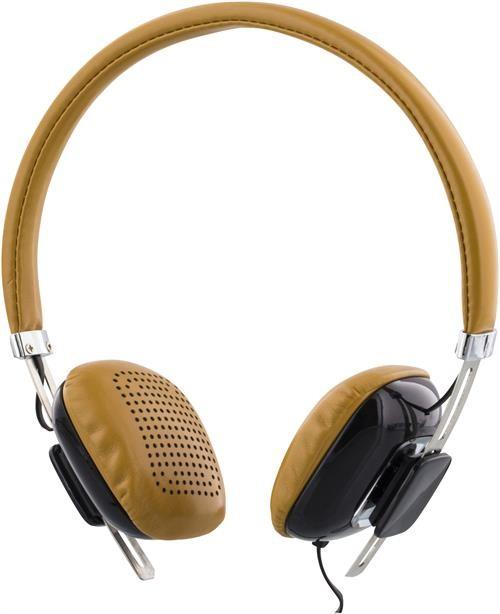 Headphones STREETZ, with microphone, brown/black/ HL-260