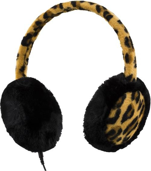 Headphones STREETZ, with microphone, leopard / HL-297