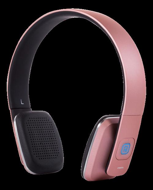 Headphones STREETZ Bluetooth, pink / HL-579