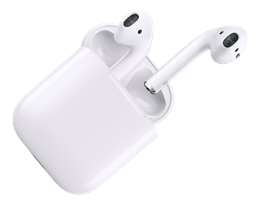 Apple iPhone AirPods, Wireless Headphones, Bluetooth, White MMEF2ZM/A