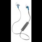 Наушники STREETZ, Bluetooth, спортивные, с микрофоном, синие / HL-571