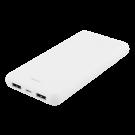 DELTACO 10 000 мАч Power bank, 2x USB-A, 2.1A, светодиодный индикатор, белый