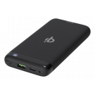 Блок питания DELTACO 10 000 мАч, Qi 10 Вт, USB-C PD, Quick Charge 3.0