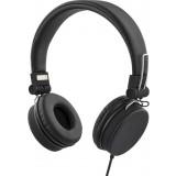 Headphones STREETZ foldable, with microphone, black / HL-221