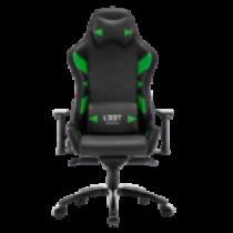 Gaming chair L33T GAMING Elite V4 (PU) Black - Green decor / 160367
