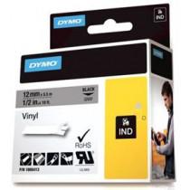 DYMO Rhino Professional, 12мм, заметная виниловая лента, черный текст серый, тей