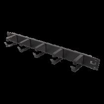 "DELTACO 19 ""cable handler, metal, 5 loops, 1U, black / 19-15"