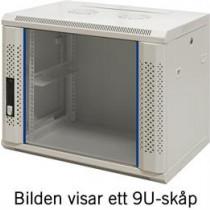 "19 ""wall cabinet, 15U, 600x450, glass door TOTEN white / 19-6415V"