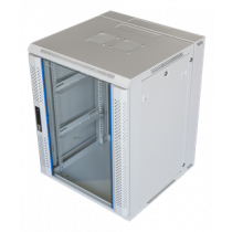 "TOTEN System Z, 19"" wall mounted cabinet, 15U, 600x600, glass TOTEN white (ZH6615.6100) / 19-6615V"