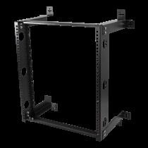 Настенное крепление 19 дюймов, 12U, нагрузка 60 кг, сталь, монтажный комплект, черный
