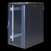 """TOTEN System G, 19 """"шкаф, 22U, 600x1000, стеклянная входная дверь, перфорация"""