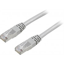 Cable patch DELTACO F / UTP,  Cat5, 20m, 100MHz, gray / 20-STP