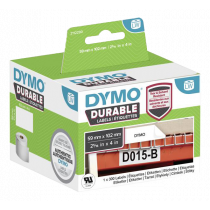DYMO LabelWriter Durable 59 мм x 102 мм транспортная этикетка (белая) 1 рулон x