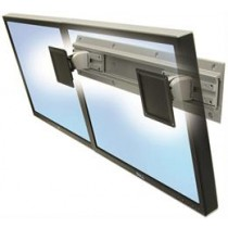 "Ergotron Neo-Flex Dual Monitor Wall Mount, up to 24 ""monitors, max weight 22,7kg, VESA 100x100 / 75x75, Silver / 28-514-800"