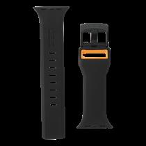 UAG Apple Watch Гражданский ремешок 44 мм / 42 мм, черный / оранжевый