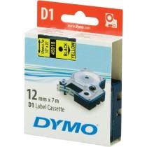 Tape DYMO D1 12mm x 7m, vinyl, black on yellow / S0720580 45018