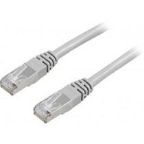Cable DELTACO F / UTP, Cat5e, 7m, 100MHz, gray / 7-STP