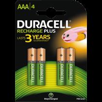 Recharge Plus AAA 750mAh Батареи, 4 шт.