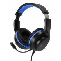 Headset DELTACO GAMING for Sony Playstation 5, 2m cable, 40mm element, black / blue / GAM-127