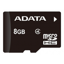 Memory card A-DATA micro SDHC, 8GB, speed class 4, black / ADATA-186