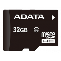 Memory card A-DATA micro SDHC, 32GB, speed class 4, black AUSDH32GCL4-R / ADATA-188