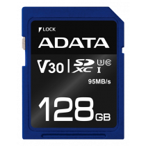 Memory card A-DATA Premier Pro SDXC, UHS-I U3 Class 10, 128GB, blue / ADATA-339