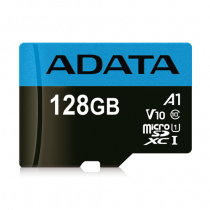 Memory card A-DATA MicroSDXC, 128GB, UHS-I, Class 10, A1, Blue / ADATA-392