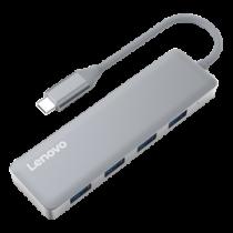 Lenovo USB-C hub, 4xUSB-A, gray C610