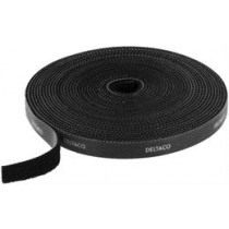 DELTACO Velcro Strap, width 10mm, 5m, black / CM05S,