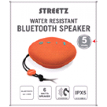 Wireless speaker STREETZ IPX5, Bluetooth 4.2, 1x6W, orange / CM751