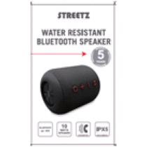 Water resistant speaker STREETZ black / CM756