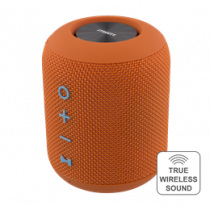 STREETZ Waterproof Bluetooth Speaker, Fabric Design, TWS, 2x5W, IPX5, Bluetooth 4.2, Orange / CM757