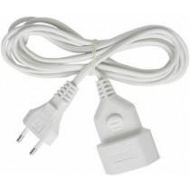 Brennenstuhl extension cable, CEE 7/16, IEC 60906-1, max 250V / 2.5A, 5m white 1161670 / DEL-118C