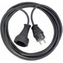 Brennenstuhl Power extension cable,  25m , black  1165480 / DEL-118O