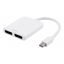 Splitter DELTACO Mini DP to DisplayPort 5.4Gbps, white / DP-905