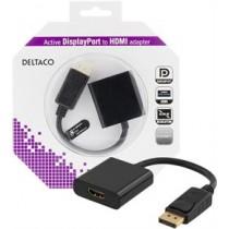 DELTACO Adapter DisplayPort - HDM I/ DP-HDMI29-K