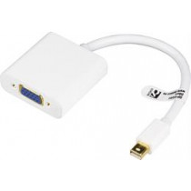 Adapter DELTACO DisplayPort to VGA adapter, 0.2m, white  DP-VGA4