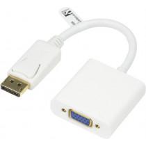 Adapter DELTACO to VGA, 0.2m, white / DP-VGA8